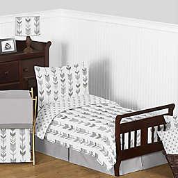 Sweet Jojo Designs Mod Arrow Toddler Bedding Collection in Grey/White