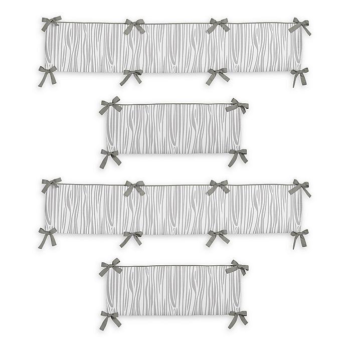 Alternate image 1 for Sweet Jojo Designs Woodsy 4-Piece Reversible Crib Bumper Set in Grey/White