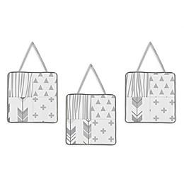 Sweet Jojo Designs Woodsy 3-Piece Wall Hanging Set in Grey/White
