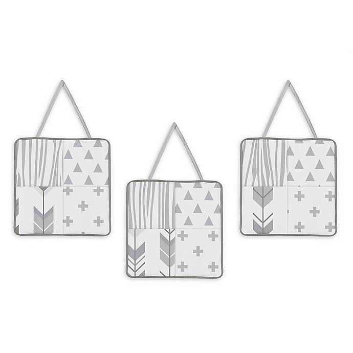 Alternate image 1 for Sweet Jojo Designs Woodsy 3-Piece Wall Hanging Set in Grey/White