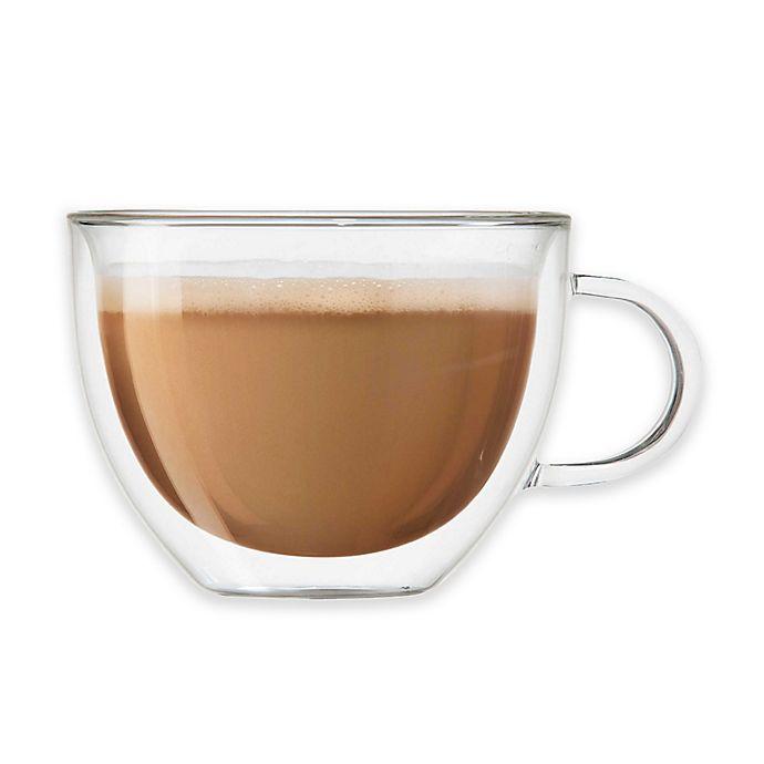 Alternate image 1 for OGGI™ Double Wall Glass Cappuccino Mugs (Set of 2)