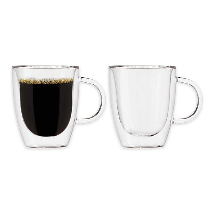 Alternate image 1 for OGGI™ Double Wall Glass Coffee Mugs (Set of 2)