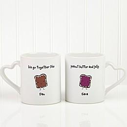 We Go Together 2-Piece Mug Set in White