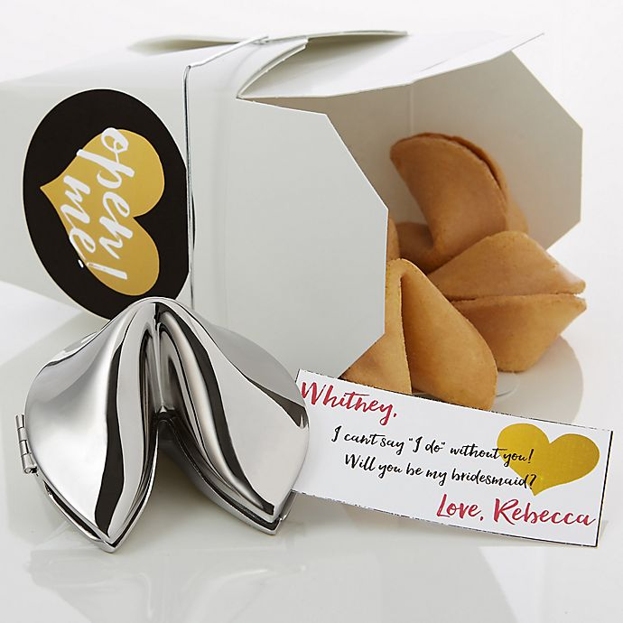 Alternate image 1 for Will You Be My Bridesmaid Personalized Fortune Cookie