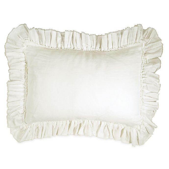Alternate image 1 for Wamsutta® Vintage Gauze Ruffle King Pillow Sham in Oatmeal