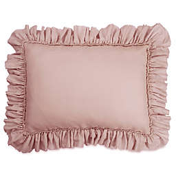 Wamsutta® Vintage Gauze Ruffle King Pillow Sham in Mauve