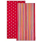2-Pack Value Beach Towels in Pink