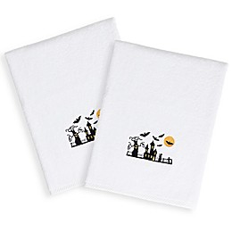 Linum Home Textiles Spooky Scary Hand Towels (Set of 2)