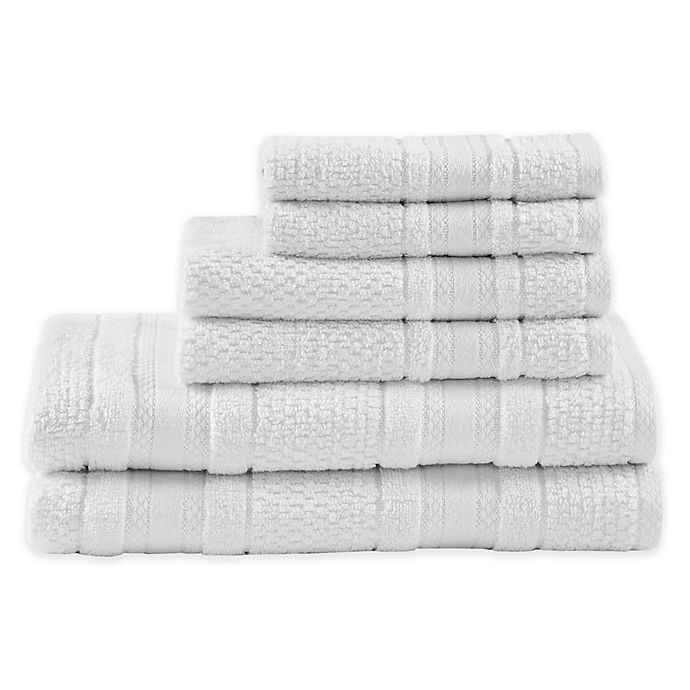 Alternate image 1 for Madison Park Essentials Adrien Bath Towels (Set of 6)