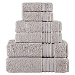 Laural Home Spa Collection 6-Piece Bath Towel Set in Grey