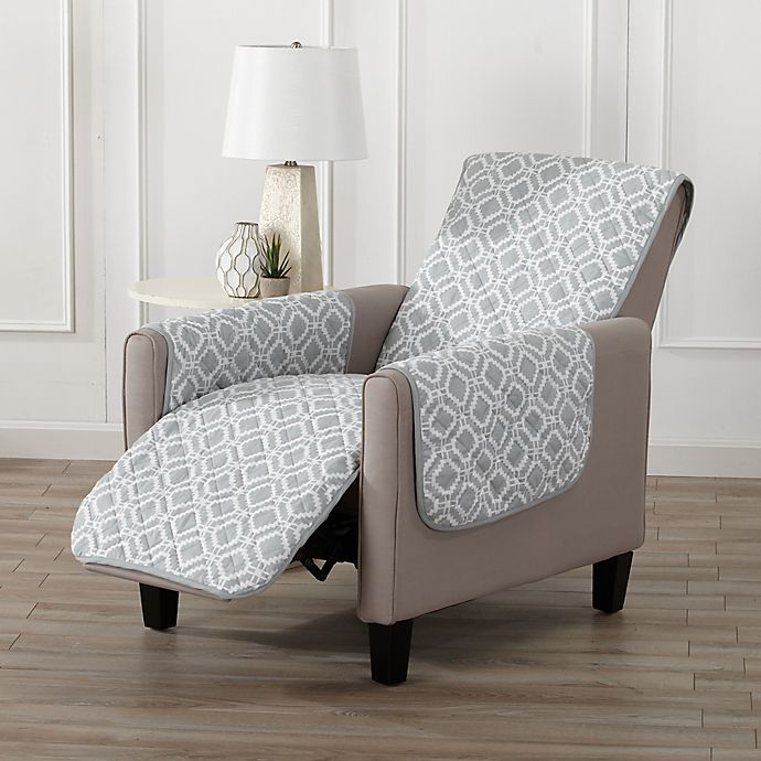 Alternate image 1 for Great Bay Home Liliana Recliner Furniture Cover in Storm Grey