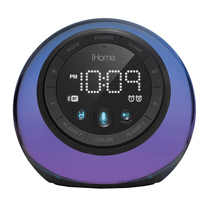 Alternate image 1 for iHome® Color Changing Dual Alarm Clock Radio in Black