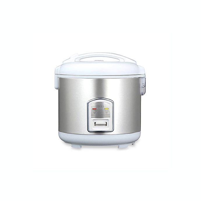 Alternate image 1 for Oyama Model CFS-F18W 10-Cup Stainless Steel Rice Cooker/Warmer/Steamer