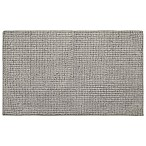 Home Dynamix Oversized 27  x 45  Solid Color Bath Mat in Dark Grey