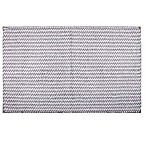 Home Dynamix Oversized 27  x 45  Striped Bath Mat in Grey
