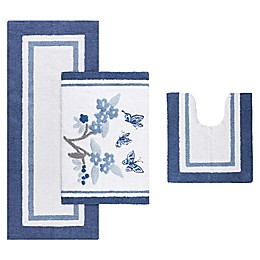 Madison Park Solandis Bath Rug in Blue