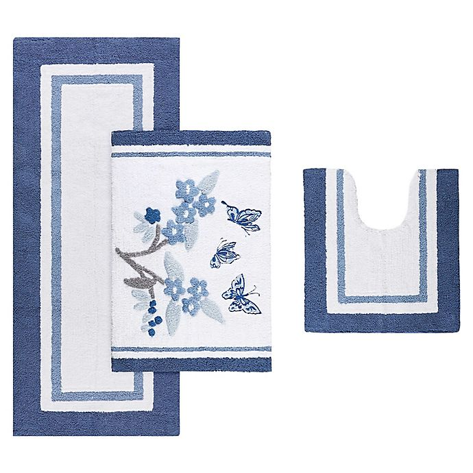 Alternate image 1 for Madison Park Solandis Bath Rug in Blue