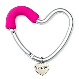 Buggygear™ Buggy Heart Stroller Hook in Silver/Pink