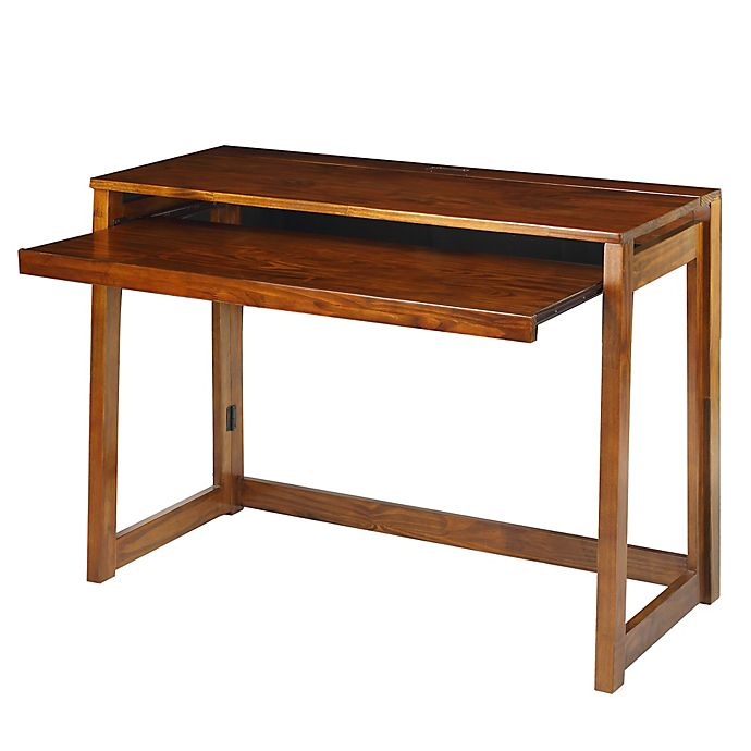 Alternate image 1 for Casual Home Folding Desk with USB Ports in Brown