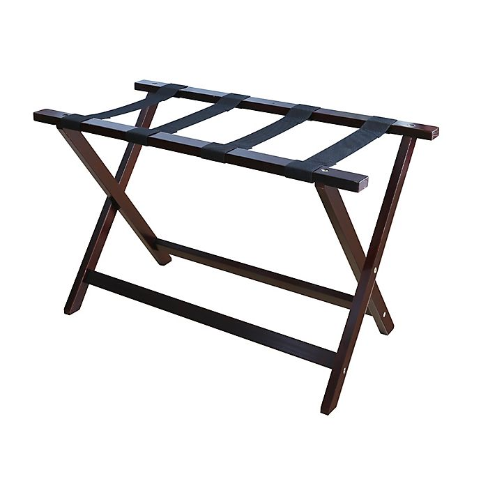 Luggage Style Furniture: Hotel Style 30-Inch Extra-Wide Folding Luggage Rack In