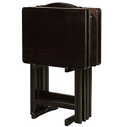 5-Piece Tray Table Set in Espresso