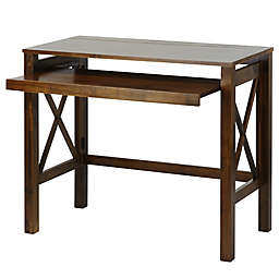 Casual Home Montego Folding Desk in Brown