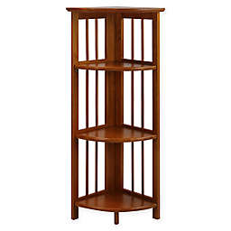 Casual Home 4-Shelf Corner Folding Bookcase