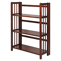 3-Shelf Folding Stackable 27.5-Inch Wide Bookcase