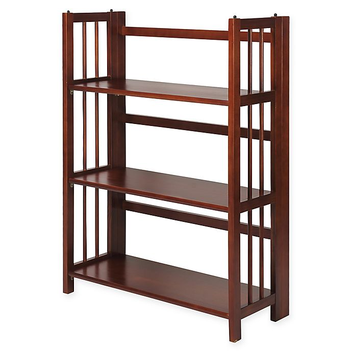 3 Shelf Folding Stackable 275 Inch Wide Bookcase Bed Bath Beyond