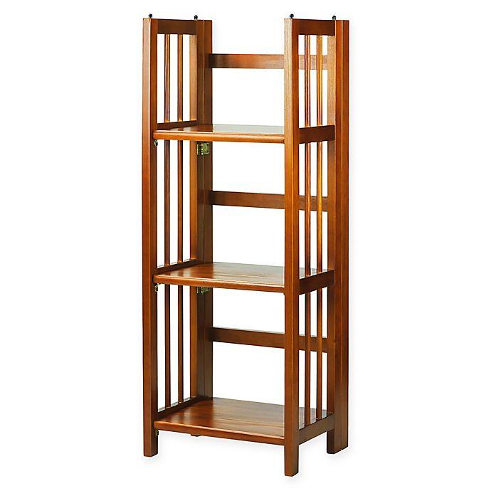 Alternate image 1 for 3-Shelf Folding 14-Inch Wide Bookcase
