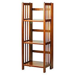 3 Shelf Folding 14 Inch Wide Bookcase