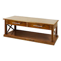 Casual Home Bay View Coffee Table in Brown