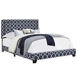 Pulaski Quatrefoil Upholstered Bed