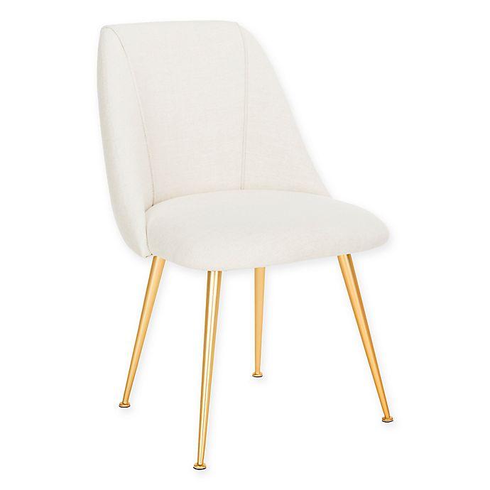 Fantastic Safavieh Foster Linen Accent Chair In Cream Bed Bath Beyond Onthecornerstone Fun Painted Chair Ideas Images Onthecornerstoneorg