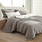 Pacific Coast Textiles Linen/Cotton Queen Duvet Cover Set in Platinum
