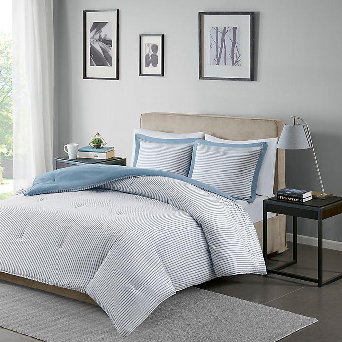 Alternate image 1 for Madison Park Essentials Hayden 3-Piece Down Alternative Full/Queen Comforter Set in Blue
