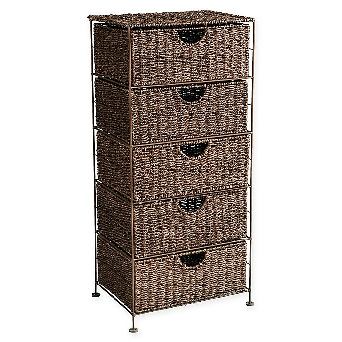 Southern Enterprises Kelsey Seagr 5 Drawer Storage Tower