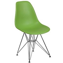 Flash Furniture Elon Series Plastic Chair with Chrome Base