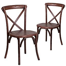 Flash Furniture Hercules Cross Back Chairs (Set of 2)
