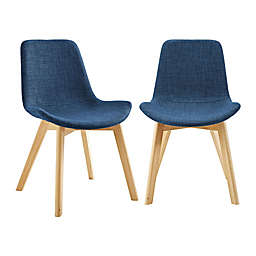 Forest Gate Lisa Mid-Century Modern Faux Suede Side Chair (Set of 2)