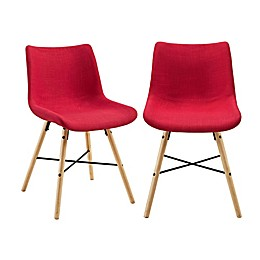Forest Gate Upholstered Linen Side Chair (Set of 2)