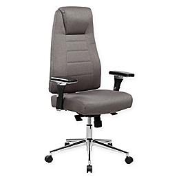Techni Mobili Comfy Highback Adjustable Executive Chair in Grey
