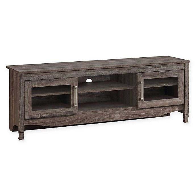 Alternate image 1 for Techni Mobili Driftwood TV Stand in Grey