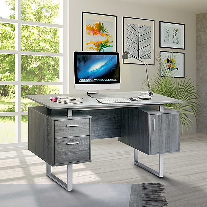 Techni Mobili Modern Office Desk In Grey View A Larger Version Of This Image