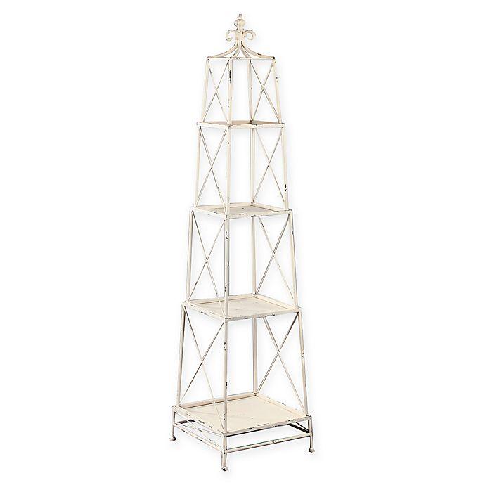 Tripar International 4 Tier Metal Obelisk Bookcase Stand Bed Bath