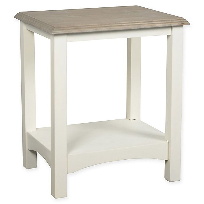 Coastal Life Accent Table In Grey/White