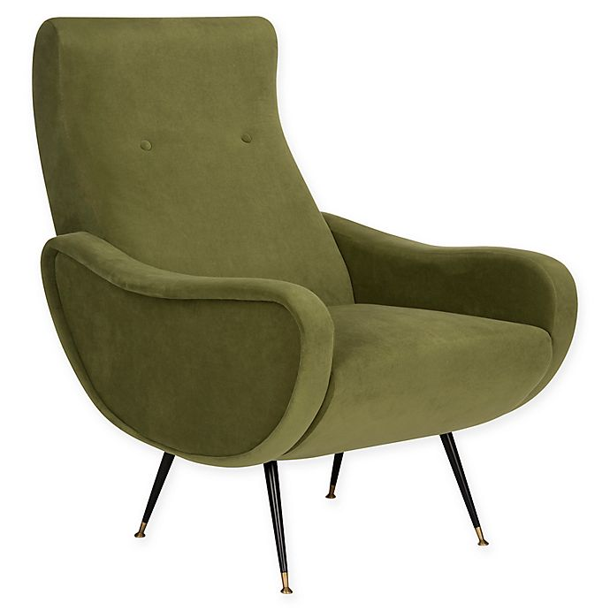 Alternate image 1 for Safavieh Elicia Velvet Retro Mid Century Accent Chair
