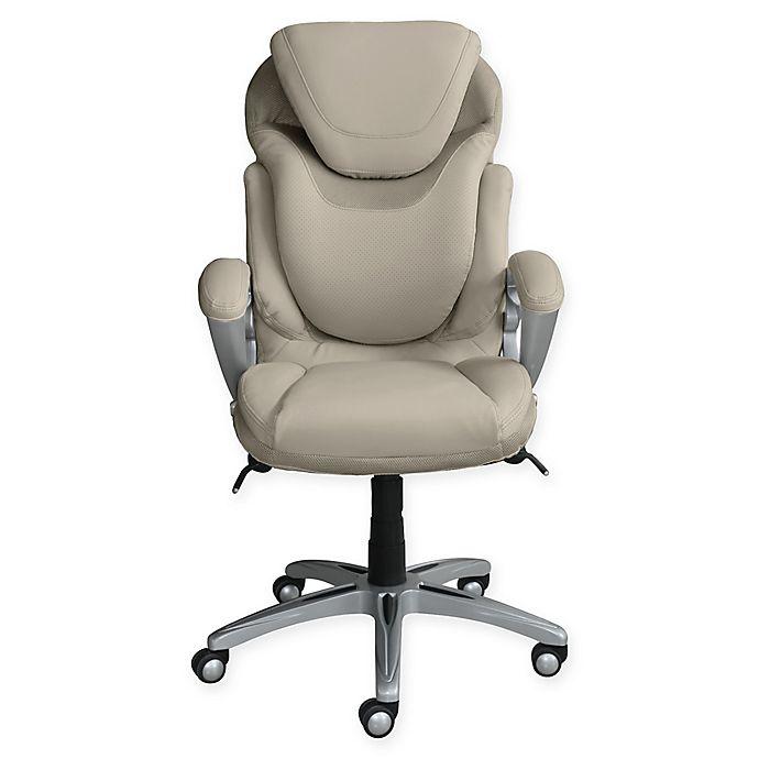 Serta Air Office Chair In Cream Bed
