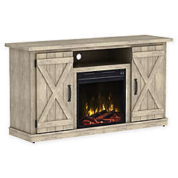 Clicflame Cottonwood Electric Fireplace And Tv Stand In Brown