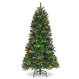 national tree company powerconnect newberry slim christmas tree with dual color lights - 75 Ft Slim Christmas Tree